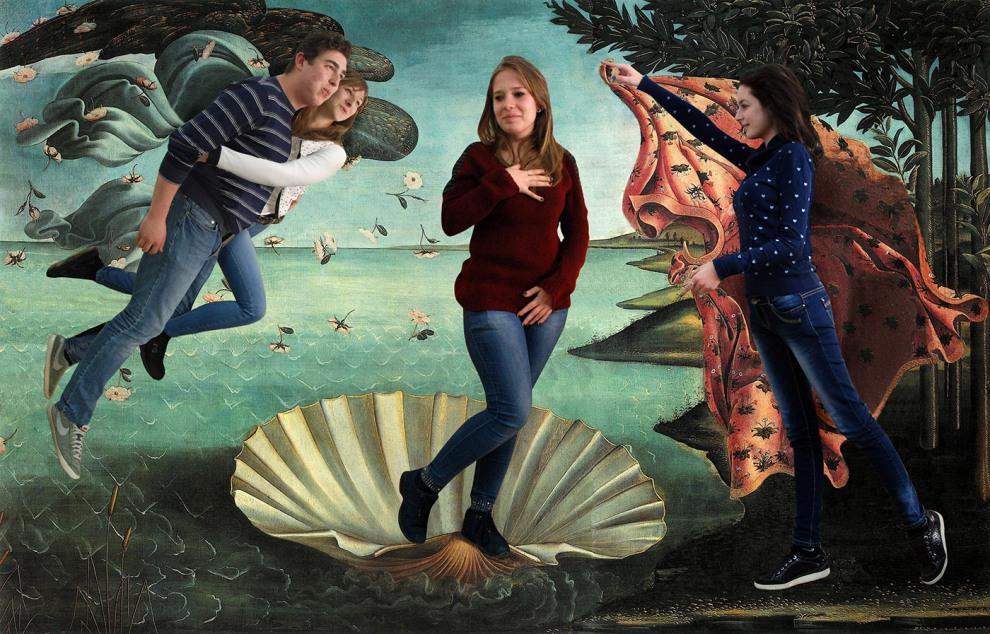 Recreación de El nacimiento de Venus, Botticelli (1484)